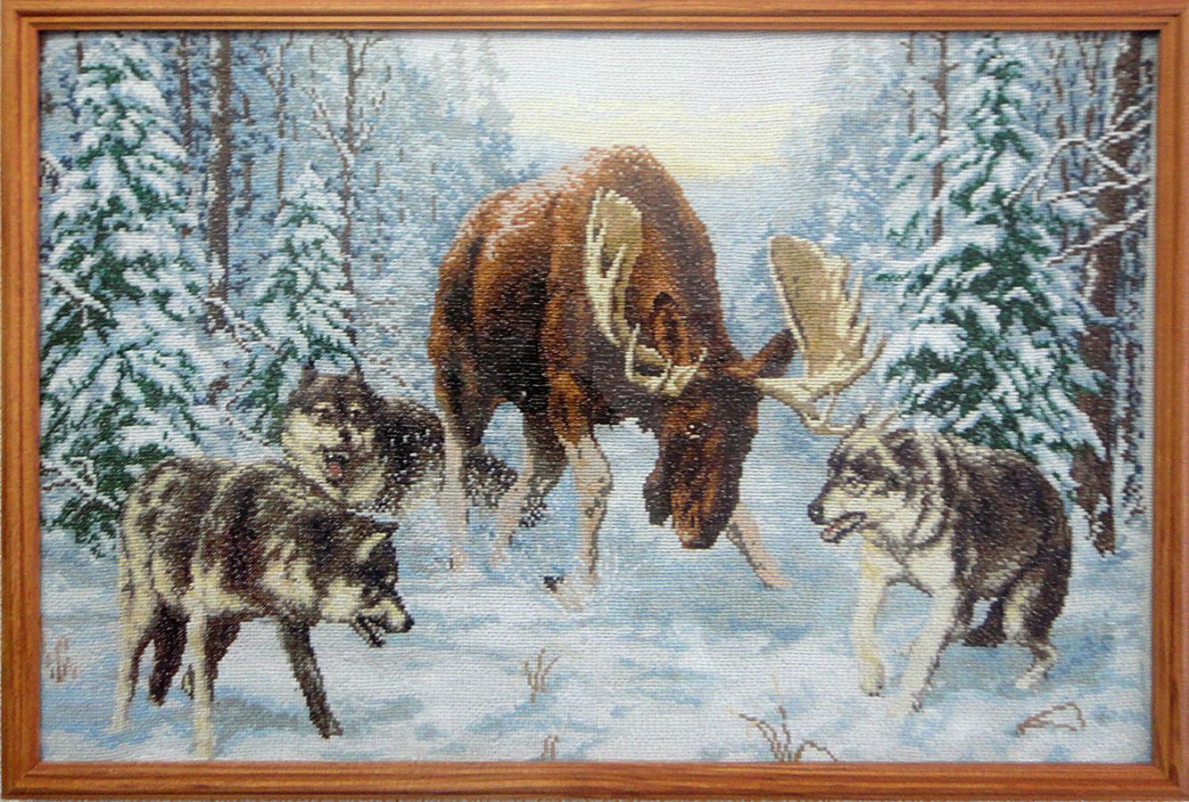 Охотники вышивка крестиком