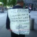 Нью-Йорк. Местный уличный брачный соискатель