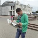 На фоне нижегородского планетария. Автор Царькова Вероника