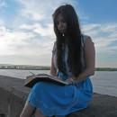 ''Плеск волны и шелест  страниц''.  Пл. Ленина, река Ока. Автор Ионов Д.В.