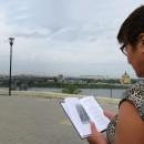 ''В поэтическом настроении''. На фоне Стрелки, Канавинского моста и площади Лени