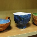 Три чаши из серии ''Грани'' (мраморная техника). Автор Светлана Сахарова. Фото Т
