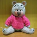 Мишка. Игрушка, выполненная в технике сухого валяния. Автор Анастасия Путяшева