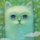 Лунный кот. Фрагмент. Холст, масло. 2017 год. Фото Татьяны Шепелевой