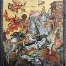 Чудо Георгия о змие. XVIII век. Государственный музей Палехского искусства. Фото