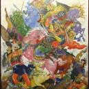 Голиков И.И. Пленение Игоря. 1935 г. Государственный музей Палехского искусства.