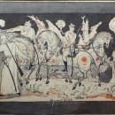 Дыдыкин А.А. Красный дозор. 1932 г. Эскиз будущей росписи. Государственный музей