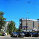 Вчера, сегодня и завтра улицы Гордеевской. Строящийся мебельный центр. 2010 г.