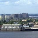 Вид на Нижегородский речной порт со стены Нижегородского кремля. 2010 г.