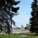 Площадь Ленина и собор Александра Невского. Вид от сквера на улице Марата