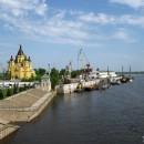 Собор Александра Невского и речной порт. Вид с Канавинского моста. 2010 г.