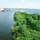 Вид на Стрелку с Канавинского моста