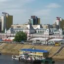Вид на площадь Ленина и Нижегородскую ярмарку с Канавинского моста