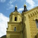 У стен собора Александра Невского