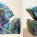 Марина Абдуллина. Скульптура ''Рыба голубая''. 2017. Глина, глазури. Фото Татьян