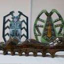 М.А. Абдуллина. Сороконожка и жуки. Керамика