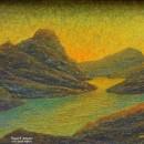 Светлана Морозова. Рассвет в горах. 2006. Фоторепродукция Татьяны Шепелевой