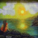 Светлана Морозова. Девушка и море. 2000. Фоторепродукция Татьяны Шепелевой