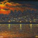 Светлана Морозова. Город ночной зажигает огни. 2007. Фоторепродукция Татьяны Шеп