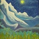 Светлана Морозова. Снежные вершины и деревья. 2000. Фоторепродукция Татьяны Шепе