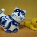 ''Котауси и мауси''. Кошка из Гжели