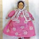 Барышня в розовом платье. Работа Вихаревой Н.О.