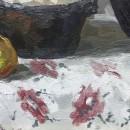 Натюрморт с луком. Фрагмент. Худ. Татьяна Яковлева. Холст, масло. 2009 год. Фото