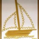 Кораблик (аппликация из макаронных изделий). Авторы - семья Гуляниных: Марина (7