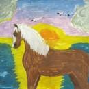 Лошадь. Авторы - семья Солош