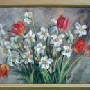 Г.П. Щелокова. Нарциссы с тюльпанами