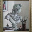 В.Г. Щелоков. Натюрморт с гипсовым бюстом Аполлона