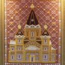 Панно ''Собор Александра Невского'' (42х60). Худ. Н.В. Харламова. Выставочный за
