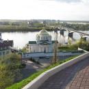 Вид с набережной Федоровского на Нижегородскую духовную семинарию и Благовещенск