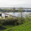 Вид с набережной Федоровского на Благовещенский монастырь, Канавинский мост и ст