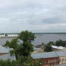 Вид с набережной Федоровского на Канавинский мост, стрелку и улицу Рождественску