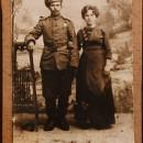Иван Иванович Голиков с женой Анастасией Васильевной. 1917 год. Из собрания музе