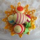 Пасхальные яйца в ажурной вазе. Квиллинг. Работа В.С. Хайтаровой