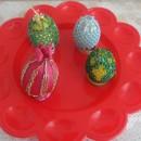 Пасхальные яйца из бисера. Работа М.А. Бариновой