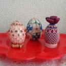 Пасхальный яйца из бисера. Работа Т.И. Запаловой