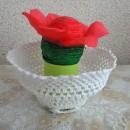 Весенний цветок. Вязание крючком + квиллинг. Работа В.С. Хайтаровой
