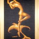 Серия ''Золотое руно''. Девушка со скатом. Вышивка крестом. Работа Марковой Л.П.