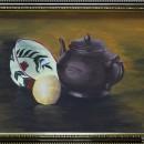 Елена Чудновская. 17 лет. Натюрморт с чайником и пиалой. Бумага, акрил