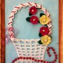 Корзинка с цветами. Вязание крючком. Работа Хайтаровой В.С.