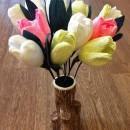 Цветы из гофрированной бумаги. Работа Фединой Г.А.