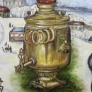 Дарья Журавлева. Зеленочаинский съезд. Фрагмент. Холст, масло. 2016 год. Фото Та