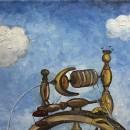 Дарья Журавлева. Кулибинская прялка. Фрагмент. Холст, масло. 2016 год. Фото Тать