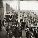 Общий вид на Самокатской площади на ярмарке