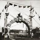 Въезд на плашкотный мост с ярмарочной стороны, 1896 г.