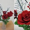 Розы и гипсофила. Бисероплетение. Работа Нины Казниной. Фото Татьяны Шепелевой