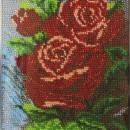 Красные розы. Панно. Вышивка бисером. Работа Нины Казниной. Фото Татьяны Шепелев